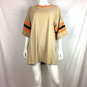 Rare Vintage 90's tee Corp Shirt striped sleeve xl